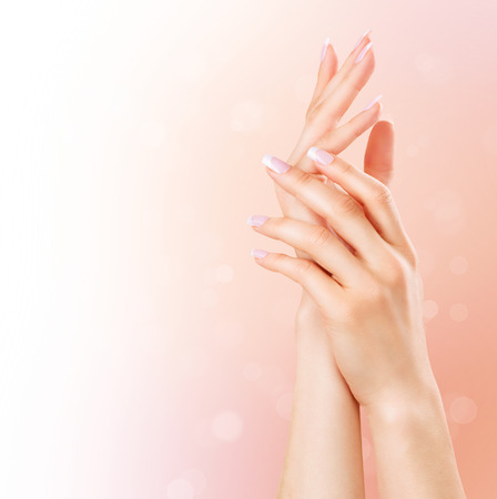 40567268 - manicure and hands spa. beautiful woman hands closeup