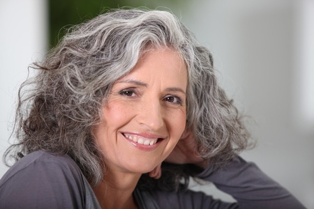 12500358 - close-up of grey haired woman at home