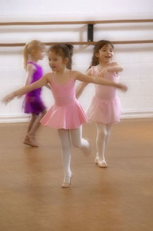 6213772 - little girls practice at ballet class